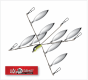 Hog Farmer 5 Arm 8 Blade - Natural Shad