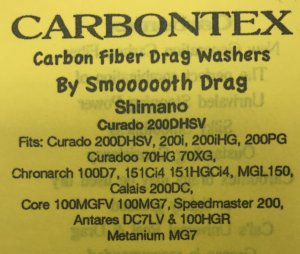 Carbontex Shimano Chronarch 100D7, Curado 200DHSV